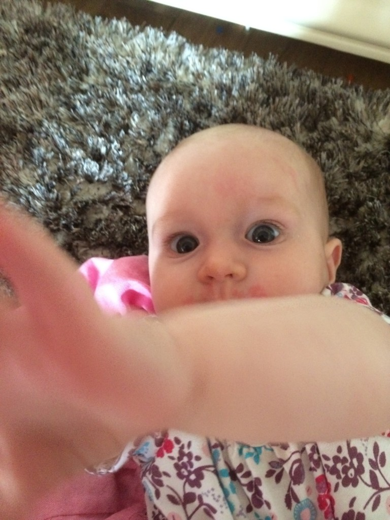 Stop taking pictures of me Mummy!