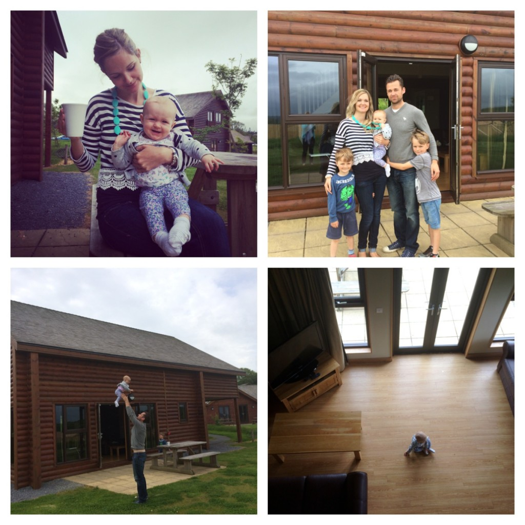 1. last coffee outside. 2. family photo. 3. flying!. 4. last ones left