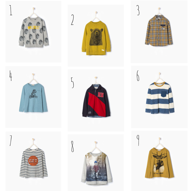 Zara Boys Winter 2015 Top and Jumper Wishlist