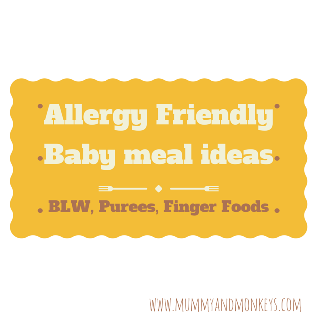 Allergy friendly baby meal ideas