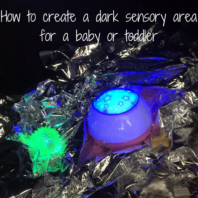 How to create a dark sensory area for a