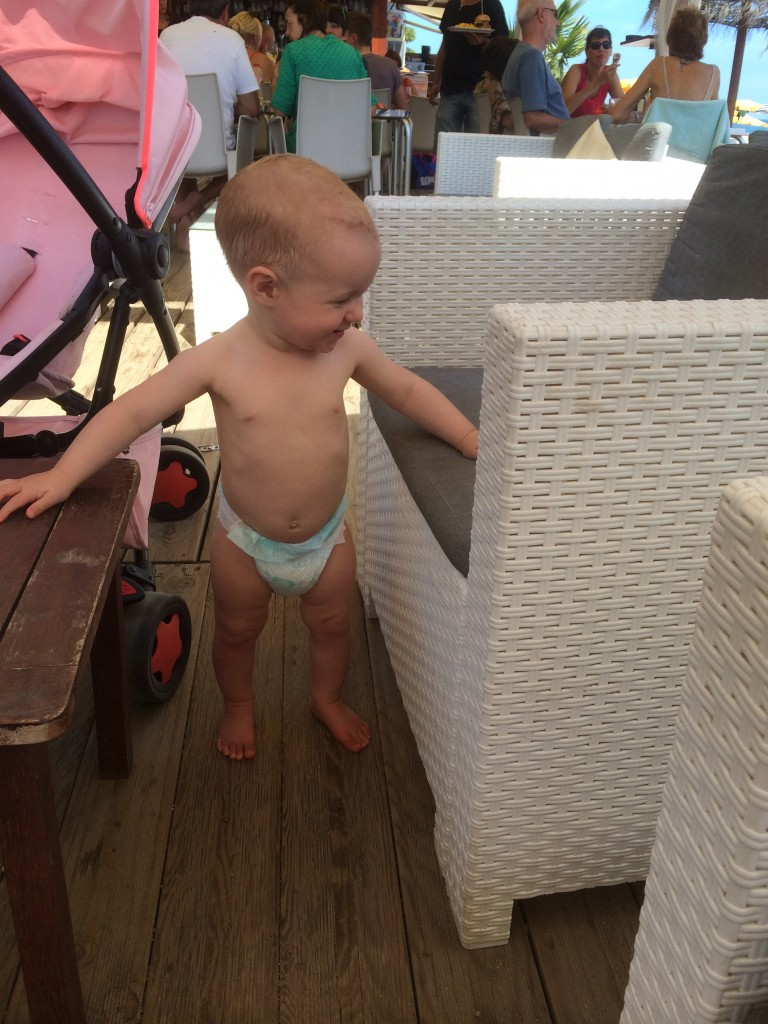 Ava standing up