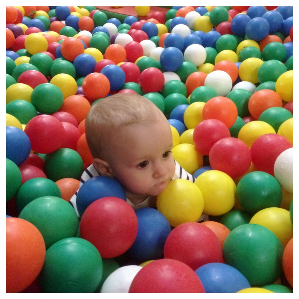 Almost disappearing in a ball pool!