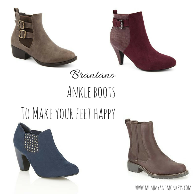 Ankle boots to make your feet happy with Brantano