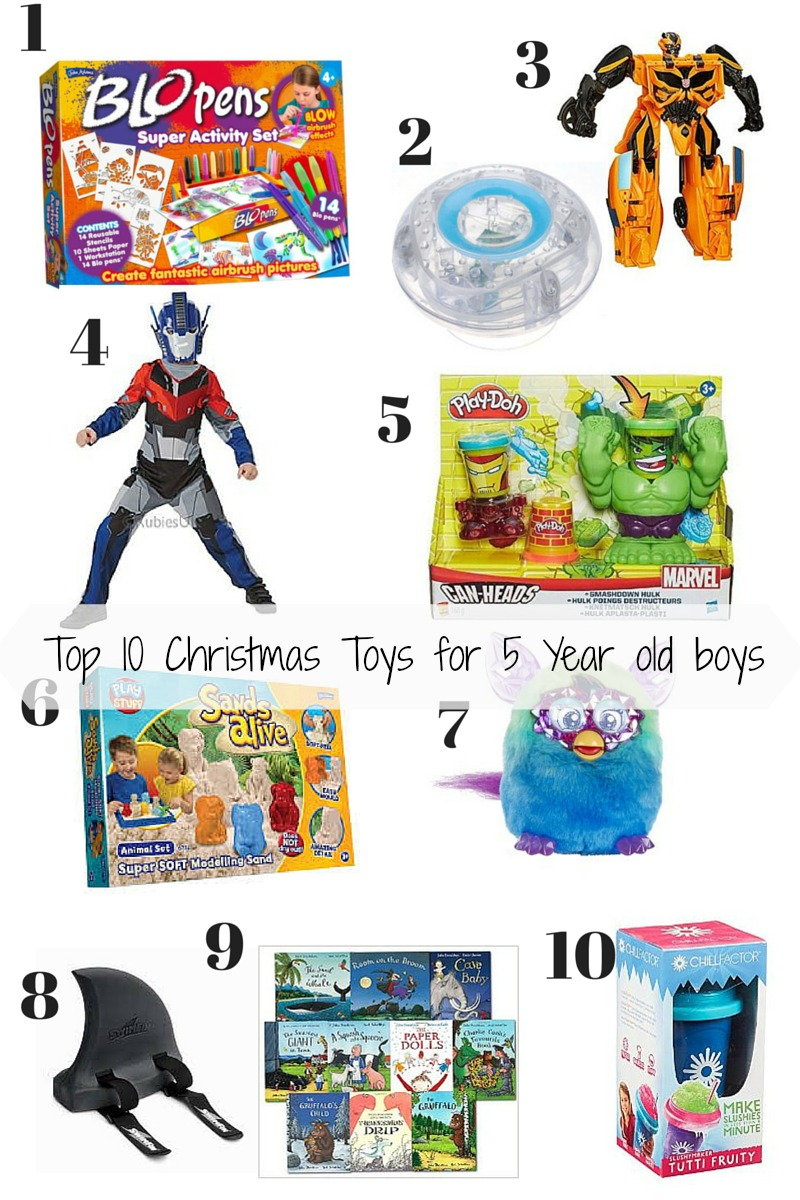 Top 10 Christmas toys for 5 year old boys - Mummy and Monkeys