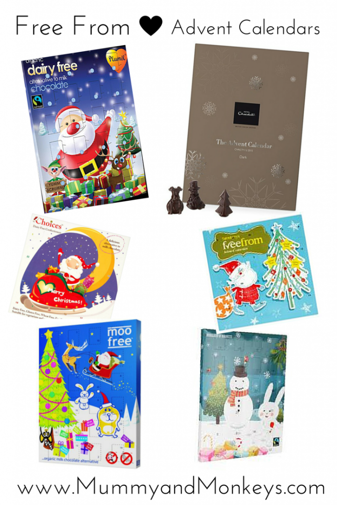 Free from advent calendars, allergy friendly advent calendars 2015 free from dairy, soya, nut and vegan friendly