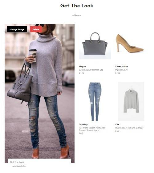 Ripped jeans, slouchy grey jumper, nude heels and grey tote bag, mood board on Lyst