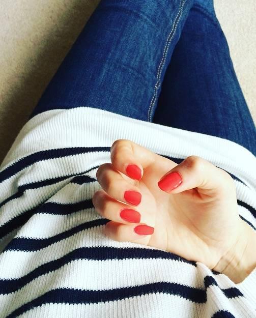 DaniPro nail polish coral colour review