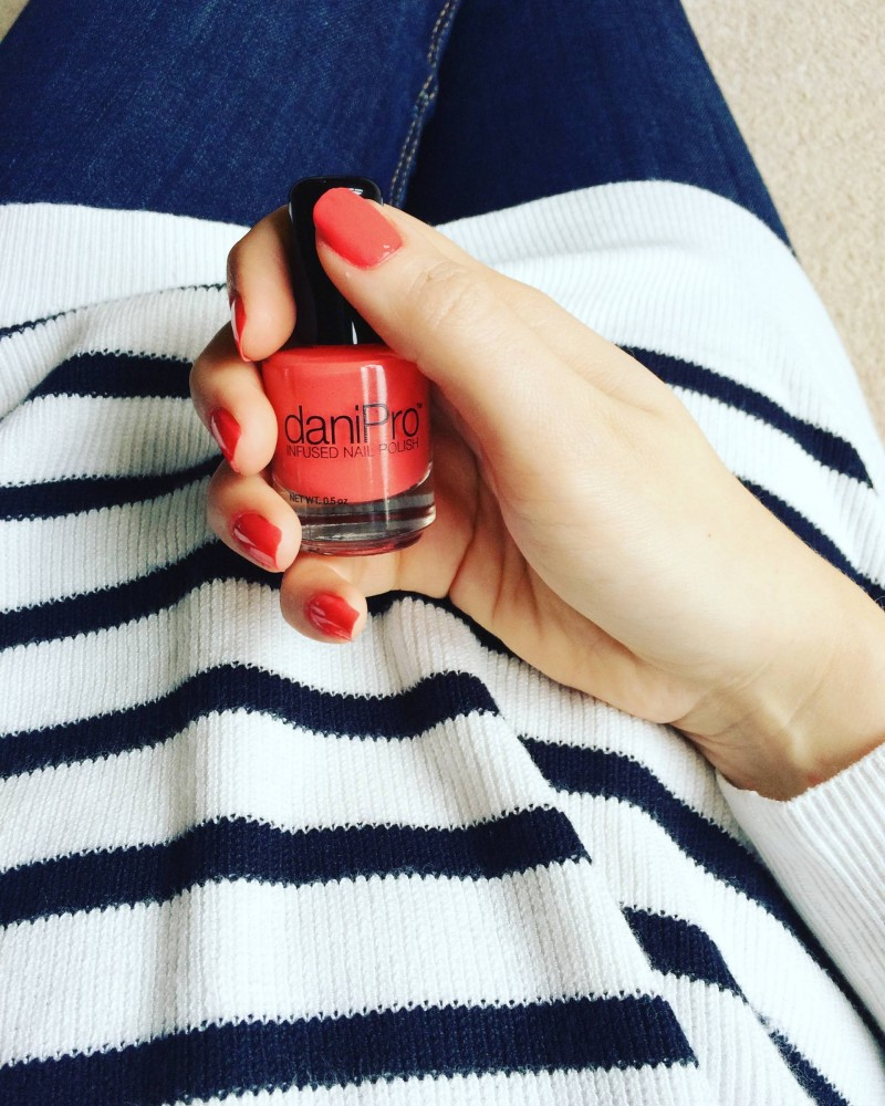 DaniPro nail polish coral colour review