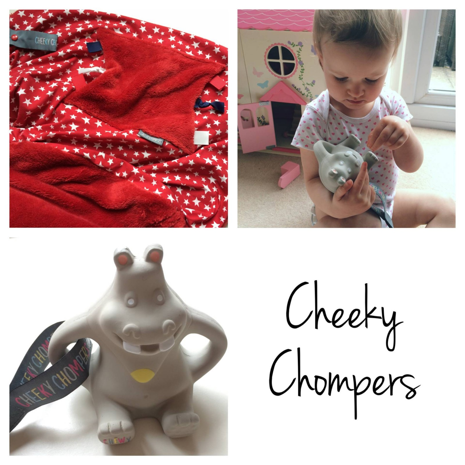 cheeky chompers hippo and blanket