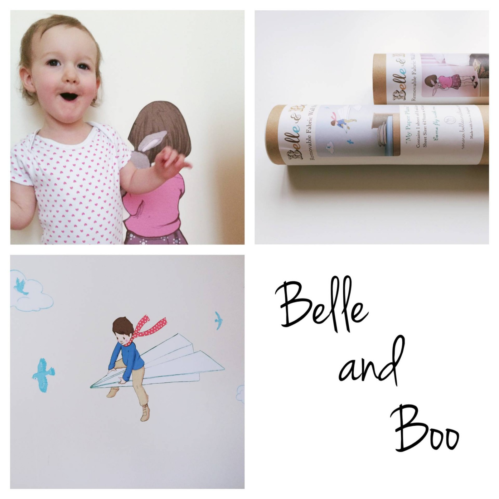 Belle and Boo wall stickers review toddler and child brands