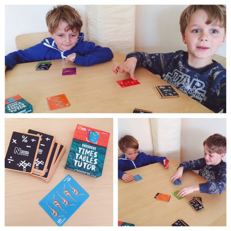 Dinosaur Times Tables Tutor cards review and giveaway
