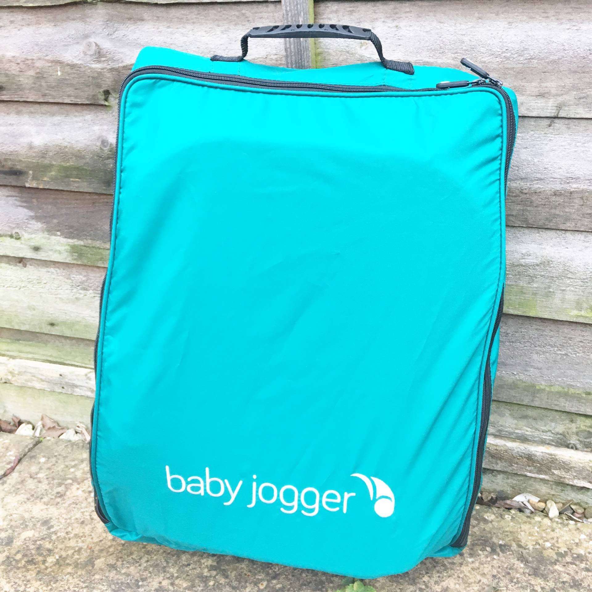 The Baby Jogger City Tour in it's backpack for travel