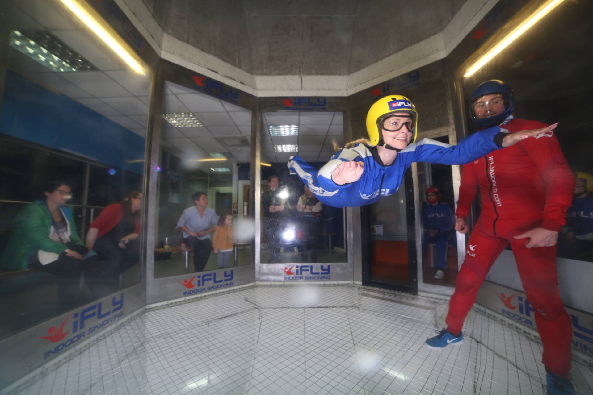 indoor skydiving at iFly with red letter days