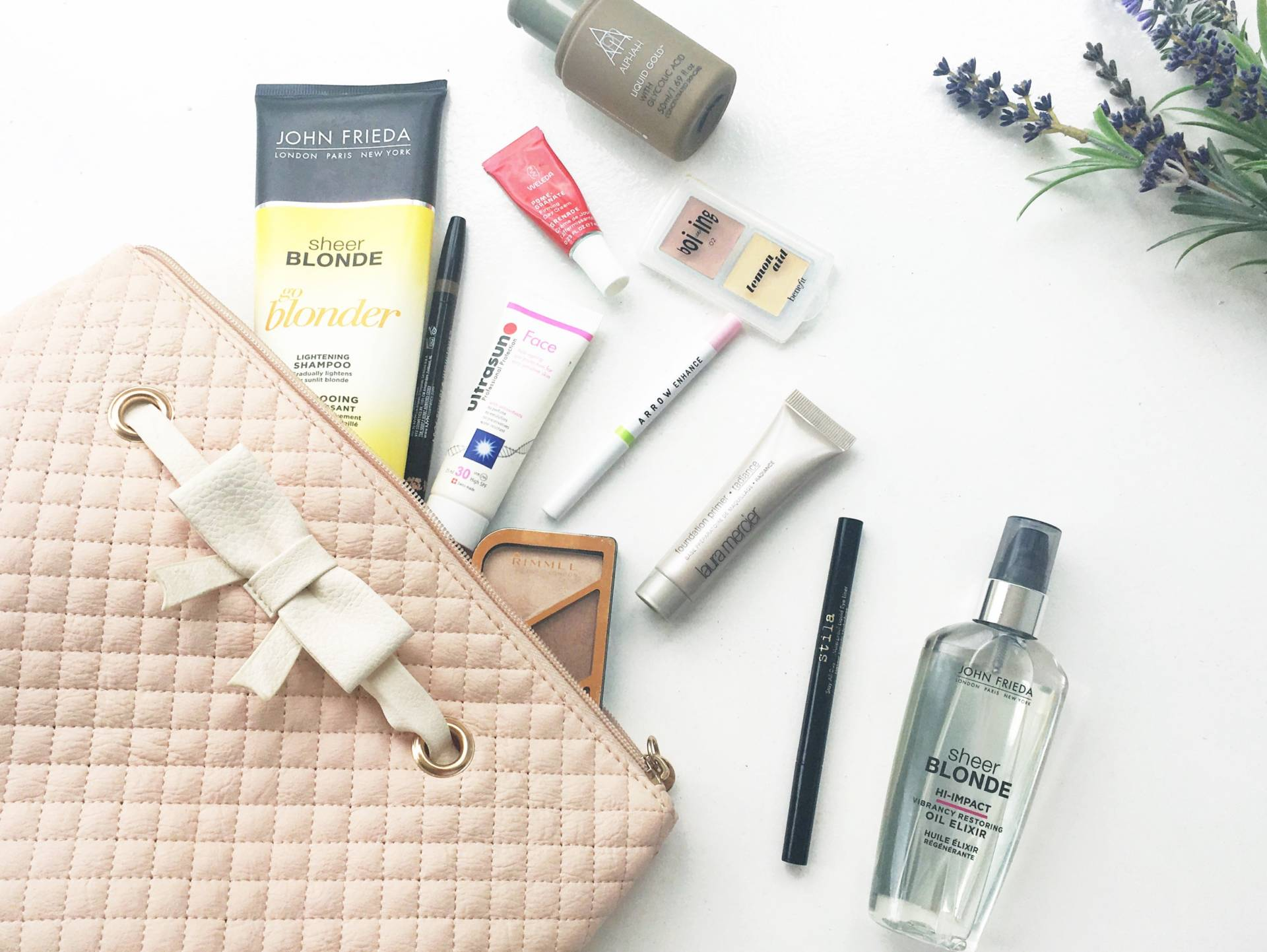 summer beauty essentials - what's in my summer make up bag?