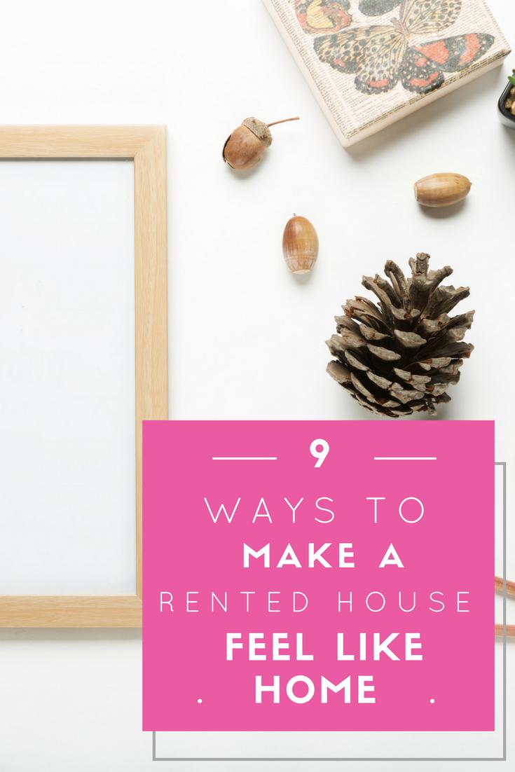 make a rented house feel like home