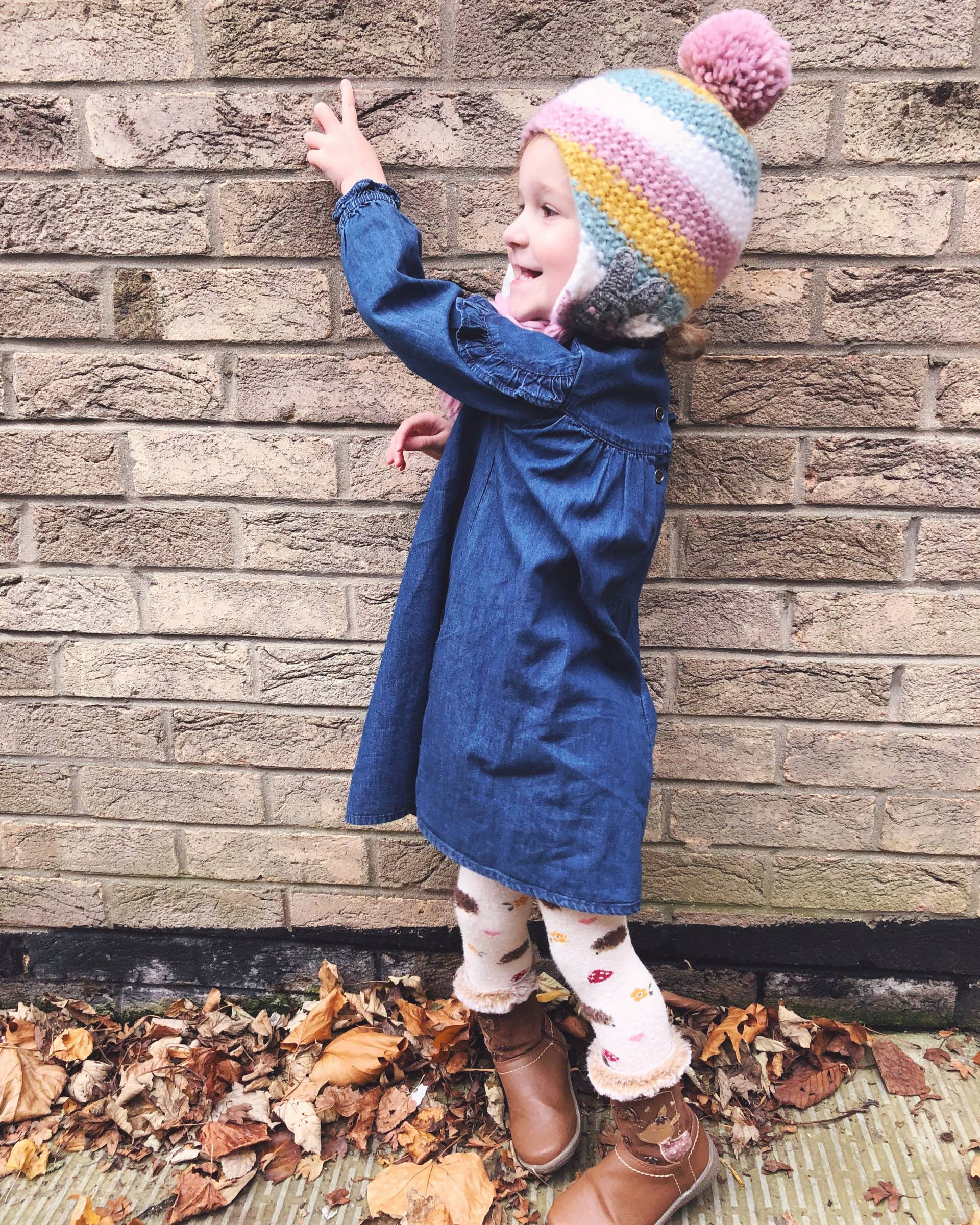Hedgehog Tights, woolly hats and grey hair #littleloves