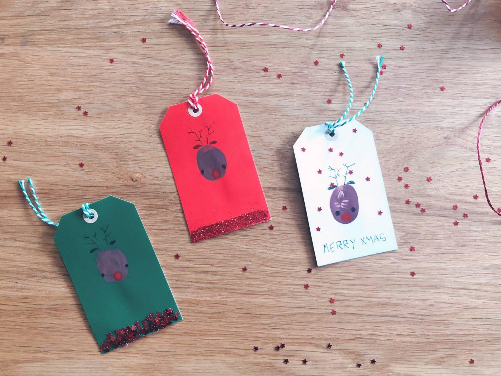 Thumbprint Reindeer Gift Tags – An Easy Christmas Craft