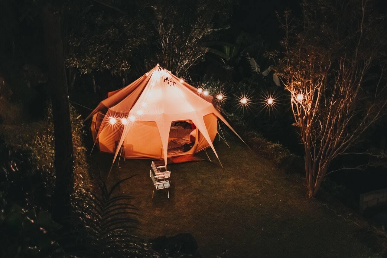 camping into glamping